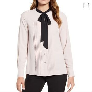 Light purple top with front neck ties